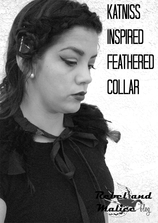 DIY Katniss Hunger Games inspired Feather Collar