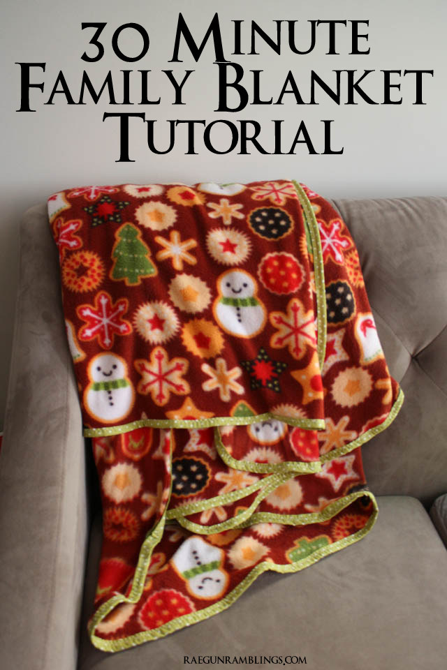 Great neighbor gift a huge blanket for everyone to snuggle under. Super easy sewing project - Rae Gun Ramblings