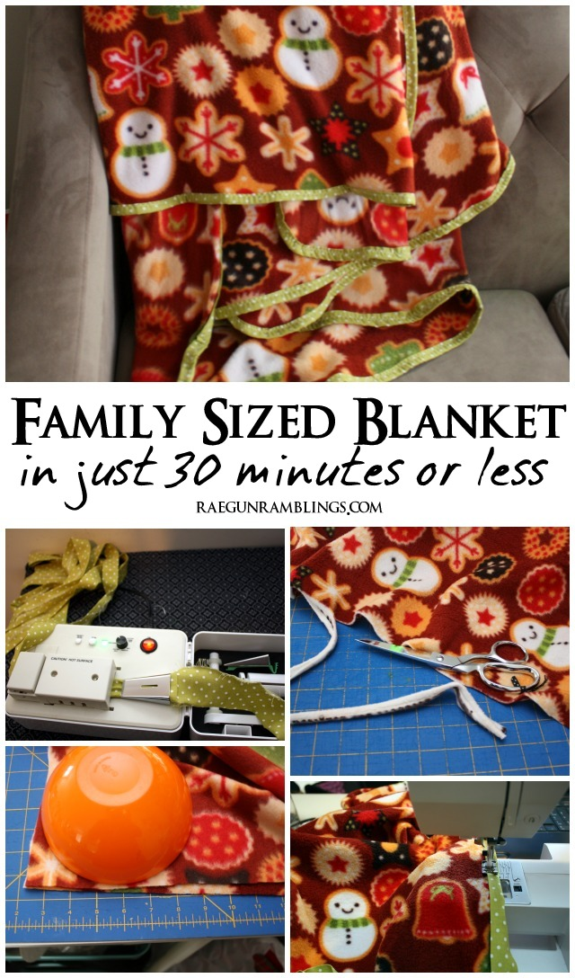 How to make an easy family sized blanket in just 30 minutes - Rae Gun Ramblings
