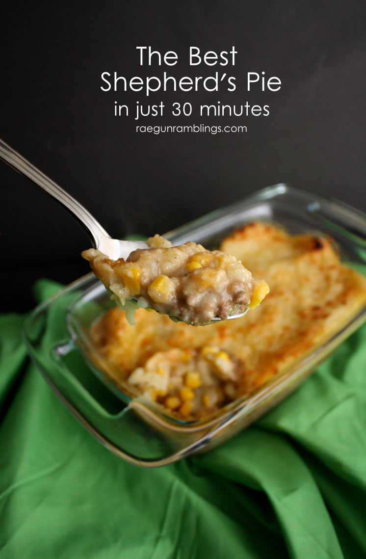Love this shepherd's pie recipe. fast and easy great for St. Patrick's day or Pi Day
