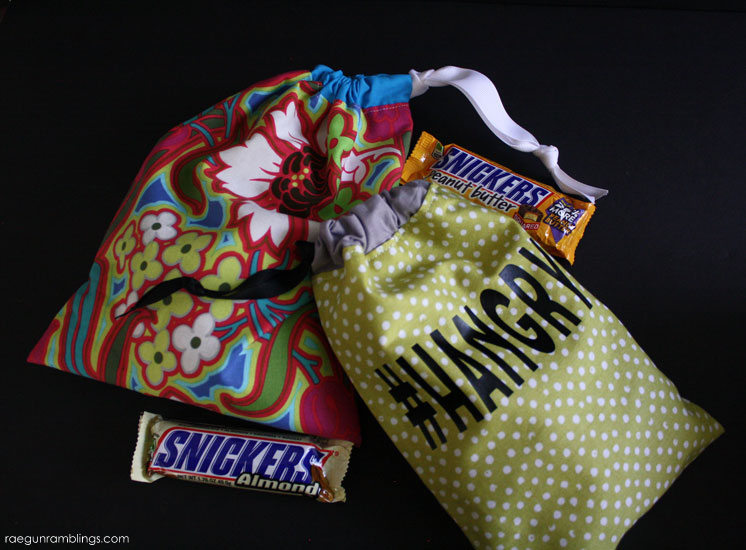 20 minute snack or gift bag. Easy sewing tutorial.