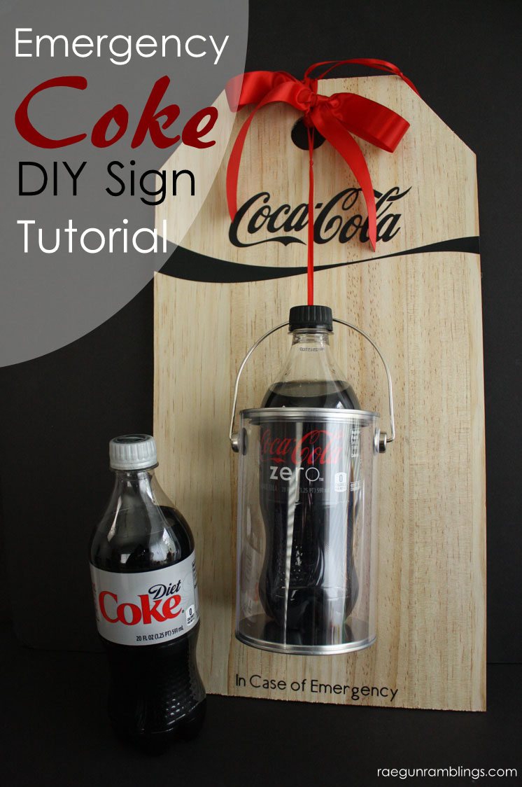 Must make this cute Emergency diet coke sign. So cute and perfect DIY mom or teacher gift idea!
