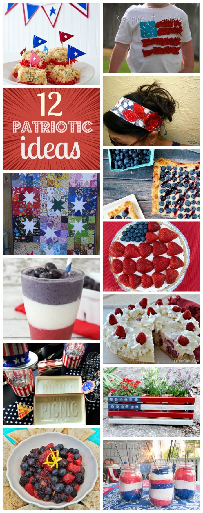 DIY patriotic ideas tutorials recipes and more great for fourth of july and memorial day