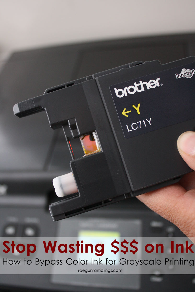 How to force your printer to print black and white even when your color cartridges are empty