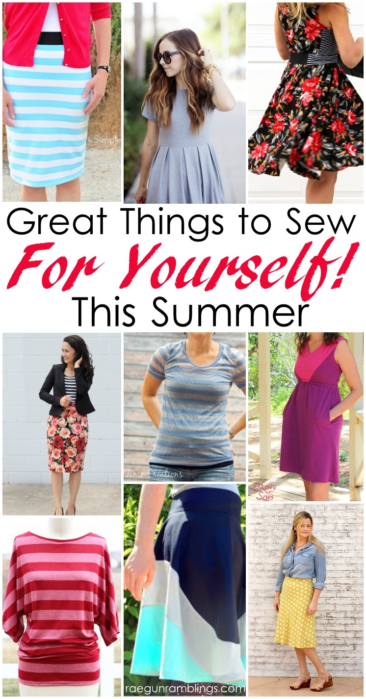 Great things to sew for yourself this summer. DIY womens fashion sewing tutorials