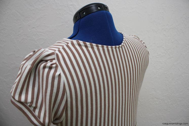 Stripe knit women's DIY dress