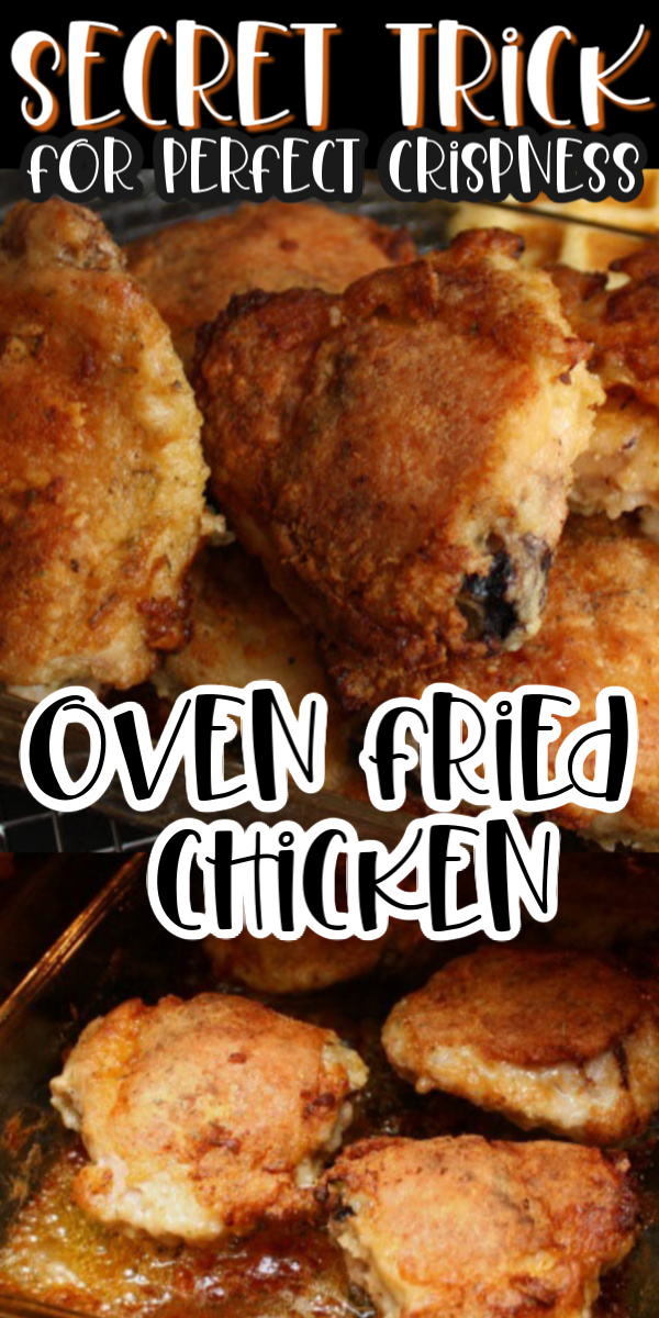 crispy oven fried chicken recipe