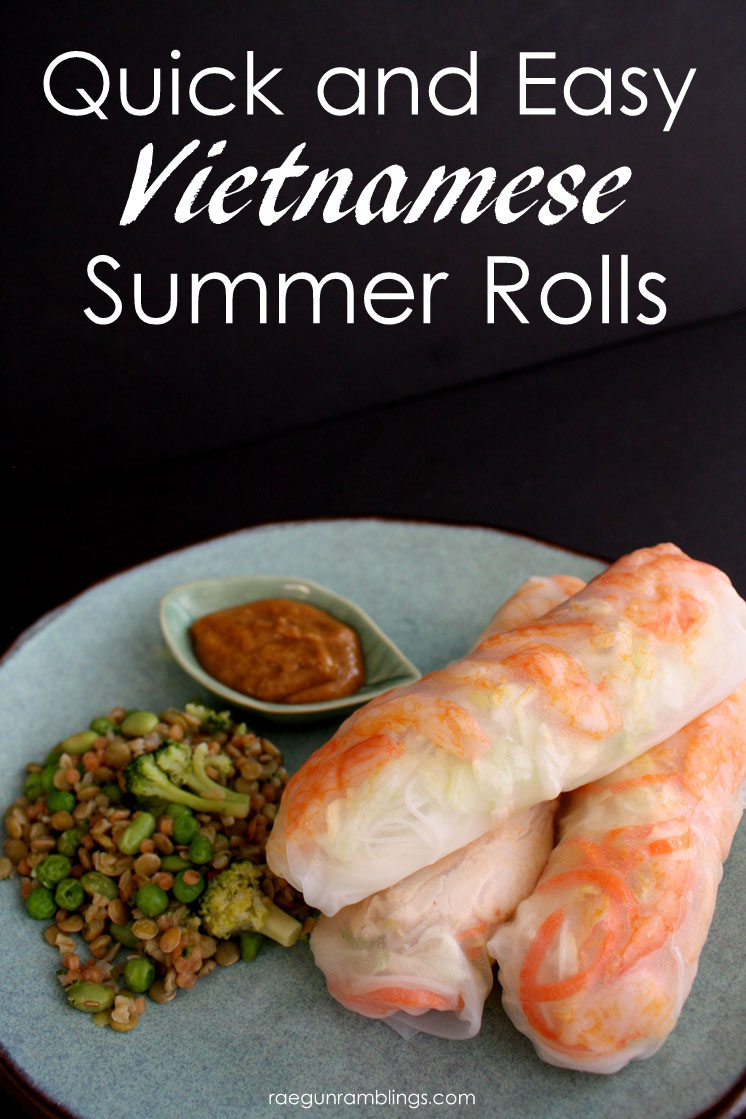 Love this recipe for fast and easy Summer Rolls. Great spin on the healthy Vietnamese meal.