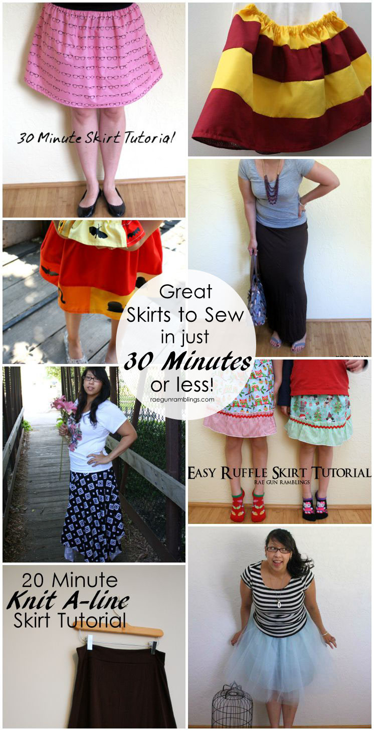 Fabulous quick and easy skirt tutorials to sew up