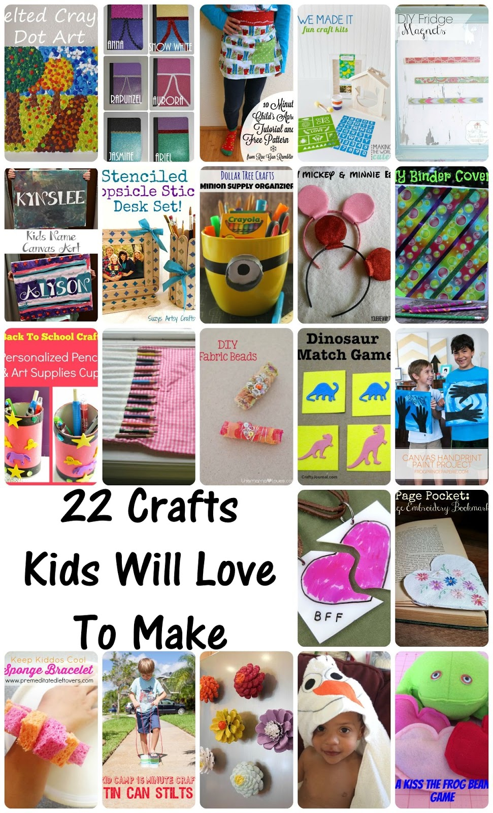 Crafts Kids Will Love. Great collection of activities to do with children