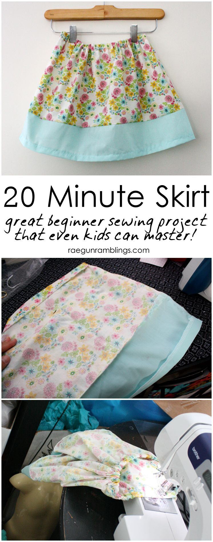 My favorite beginner and learning how to sew project. Great simple DIY skirt tutorial