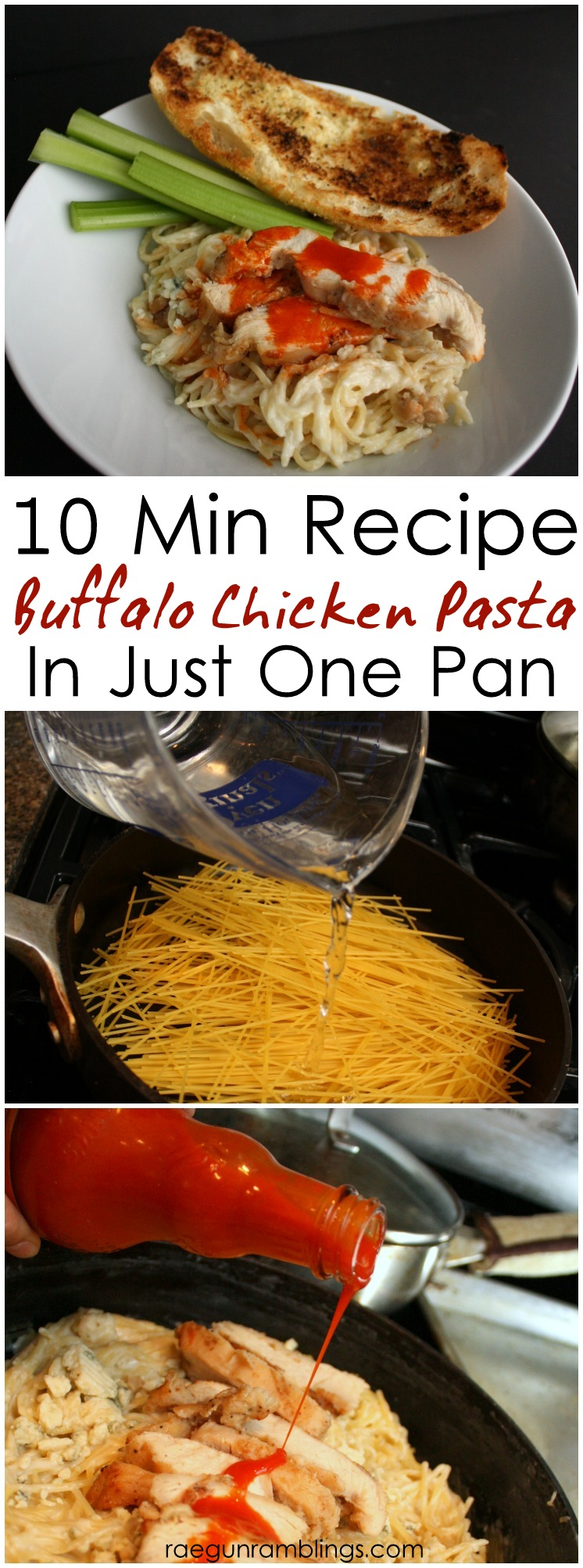 It's a keeper. Buffalo blue cheese chicken pasta in one pot. Really comes together in just 10 minutes