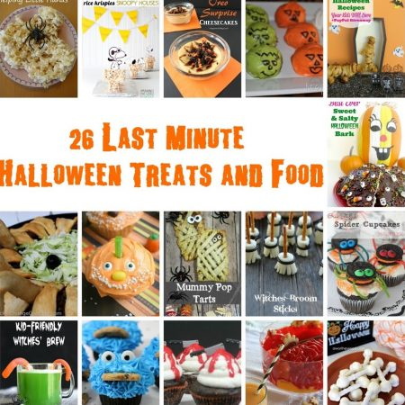 collage of cute halloween food