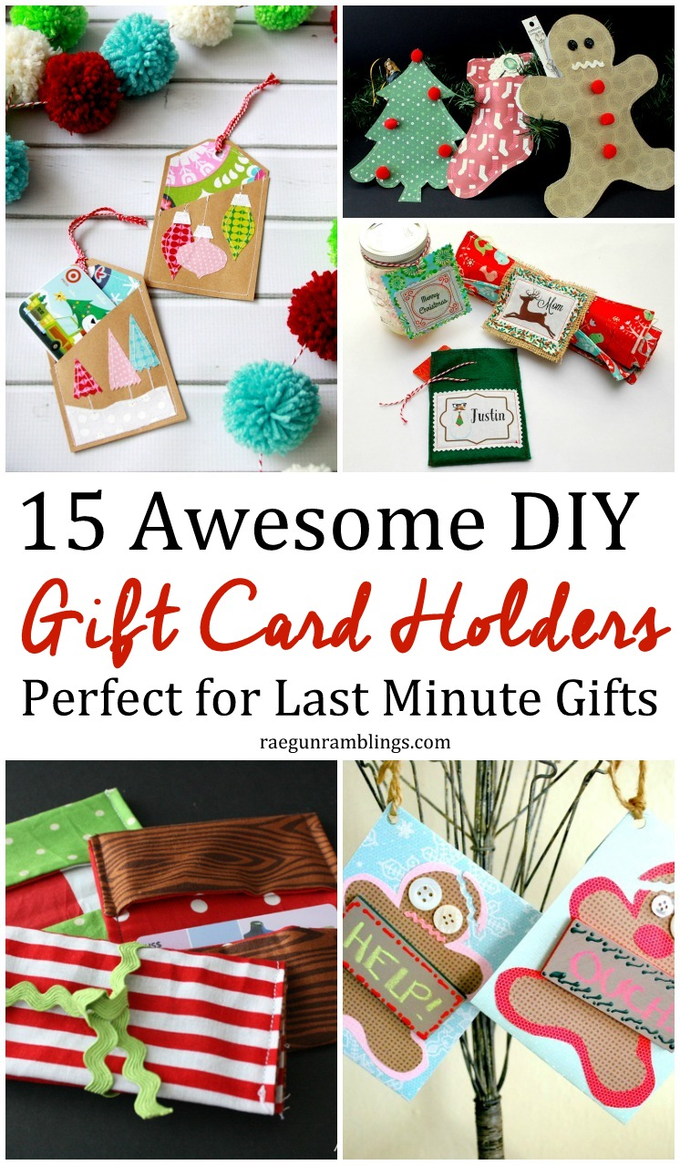 Lots of great DIY gift card holders. Perfect tutorials for last minute gift givers