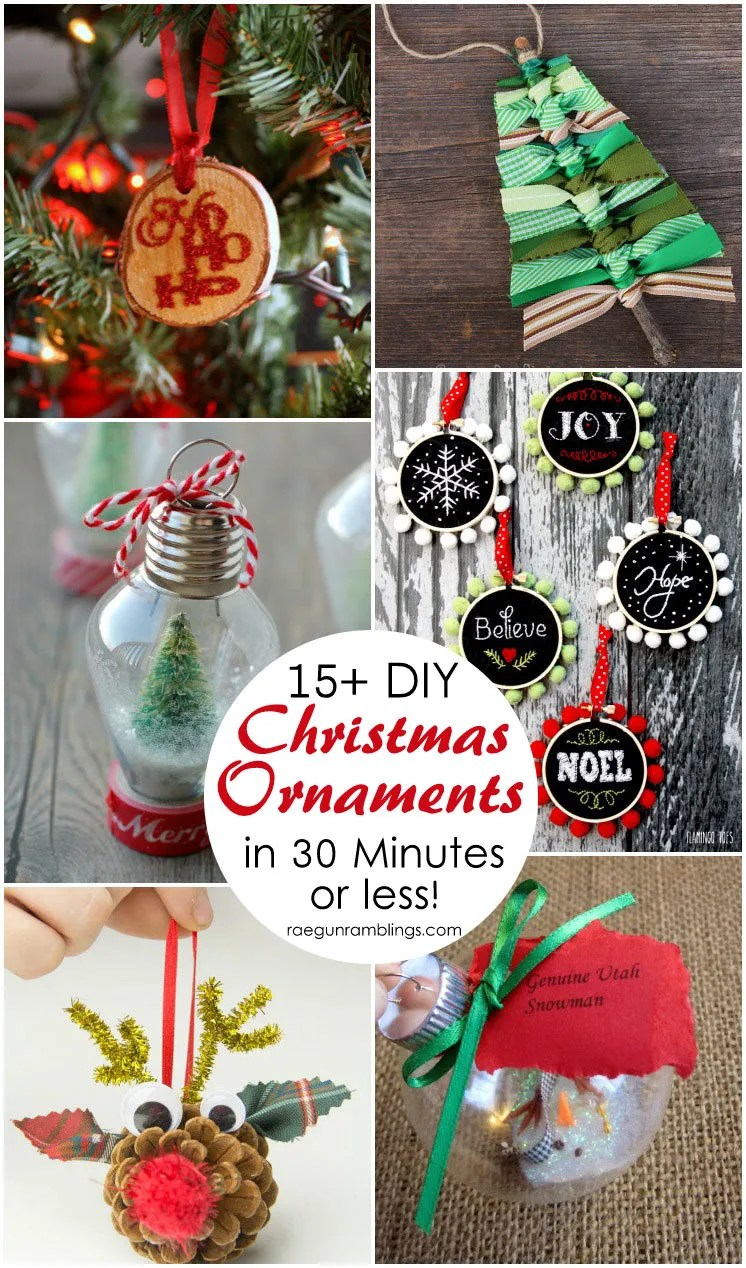 Lots Of Unique And Easy Christmas Ornament Tutorials Great Diy Holiday Decor Ideas Crafts