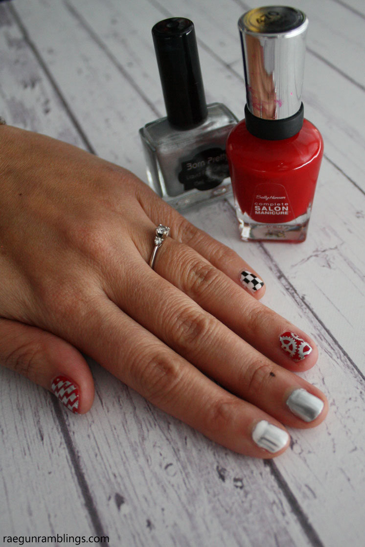 Grease Lightning nails stamping tutorial