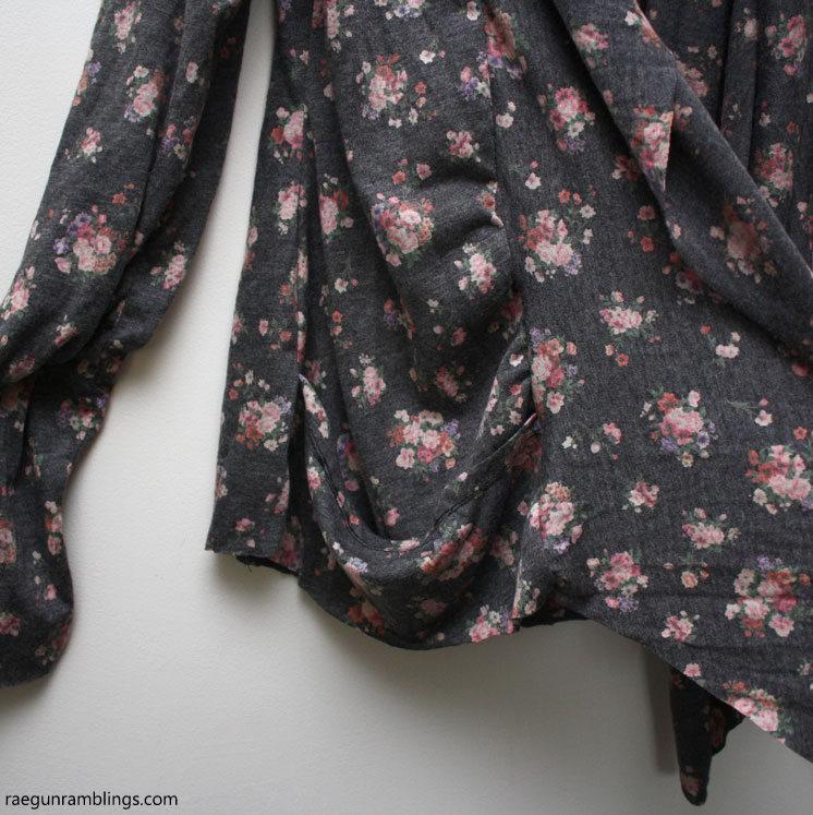 Easy pockets on a DIY cardigan