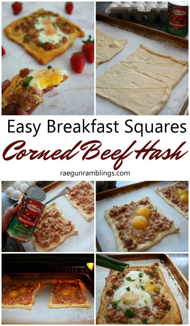 new family favorite recipe. 20 minute corned beef hash breakfast squares. filling yummy and easy