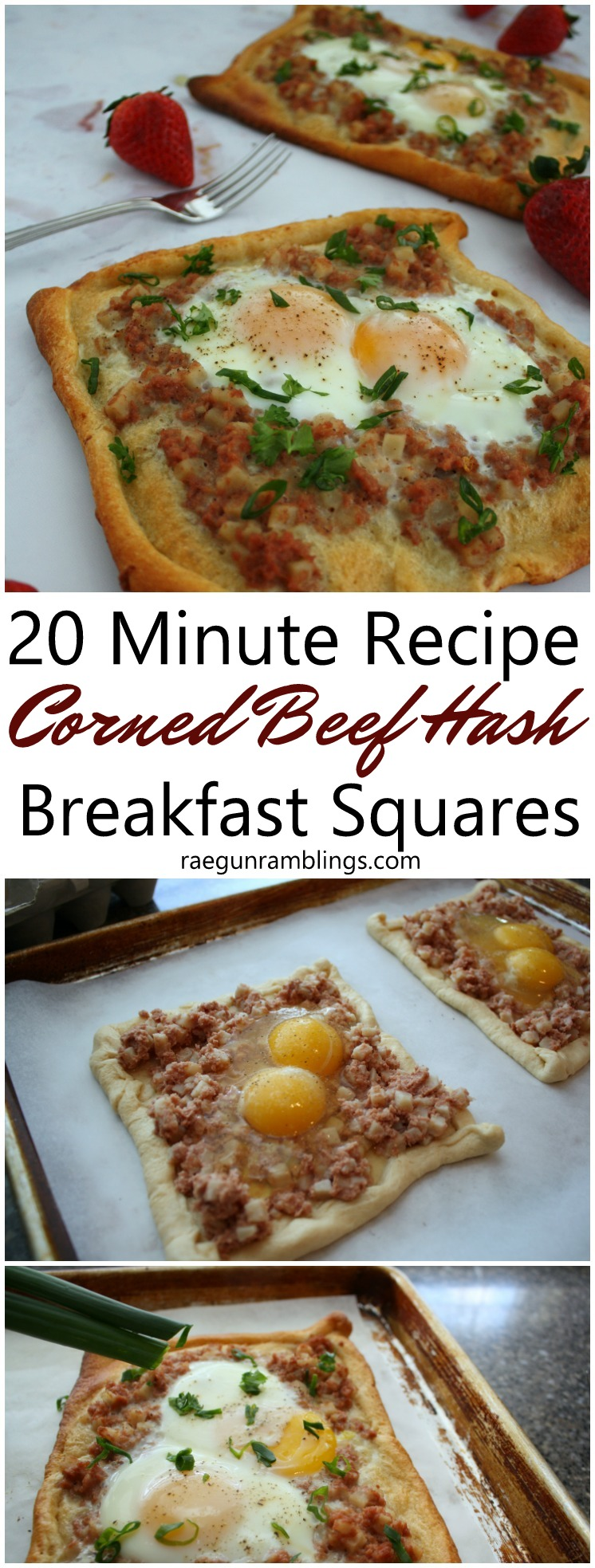 Will make again. Everyone loved this recipe and was so easy. 20 minute corned beef hash and egg breakfast squares. Would be great for brunch entertaining.