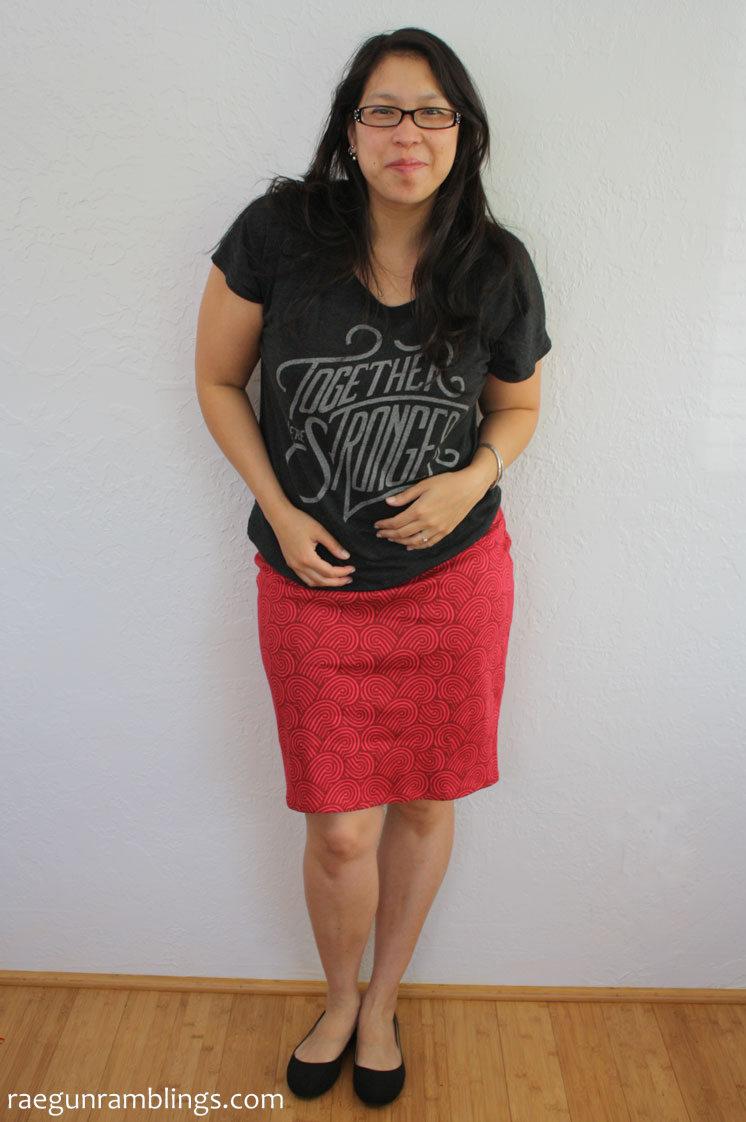 Speedy DIY sewing knit pencil skirt