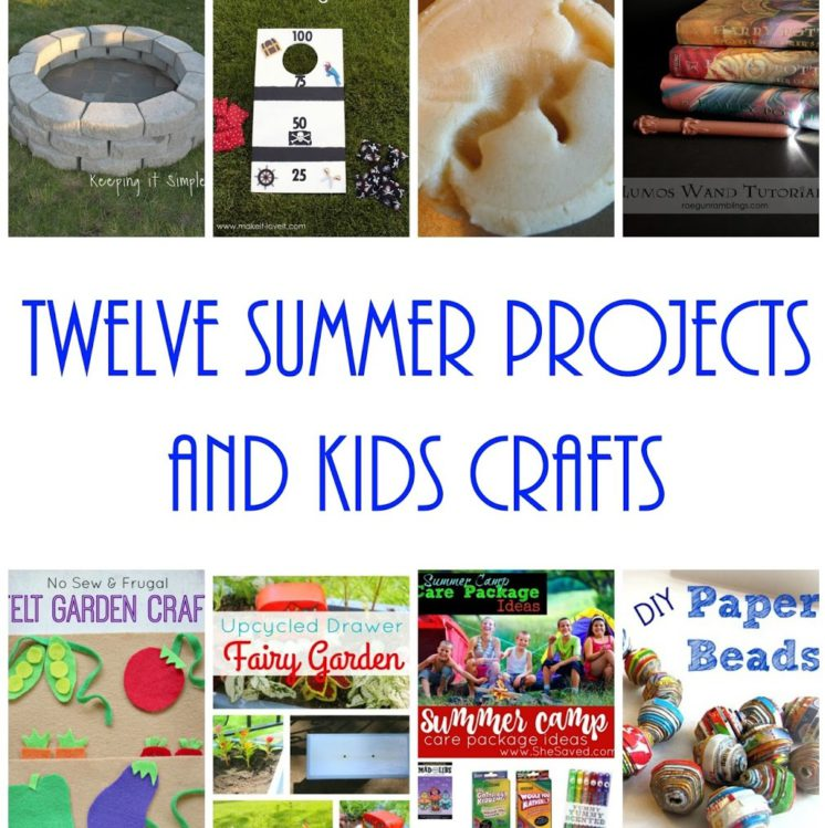 12 crafts and projects to do this summer squaer