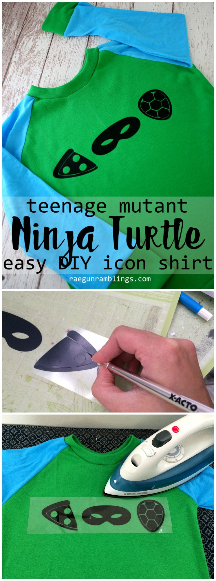 I to make a quick and easy DIY icon teenage mutant ninja turtle shirt. Love this TMNT top tutorial