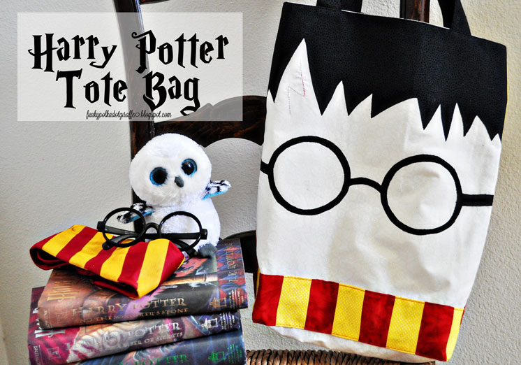 Harry Potter Tote bag tutorial and lots of other awesome Harry Potter crafts and recipes