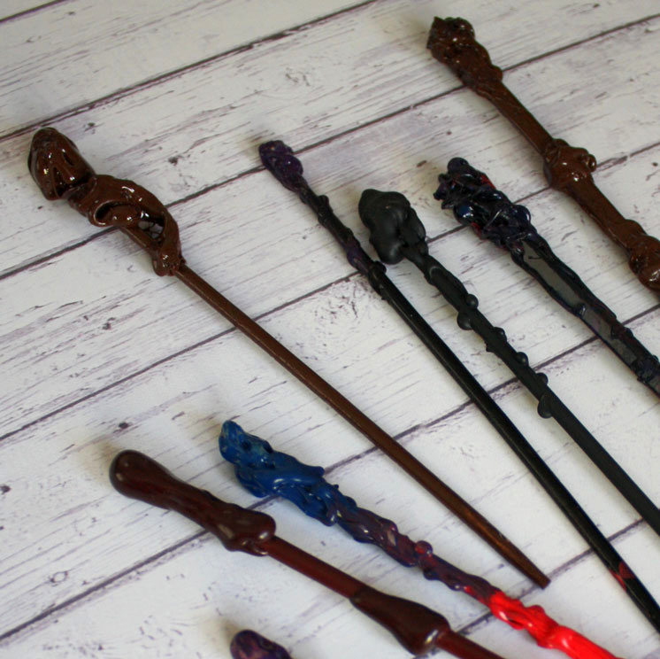 quick and easy DIY Harry Potter wands tutorial