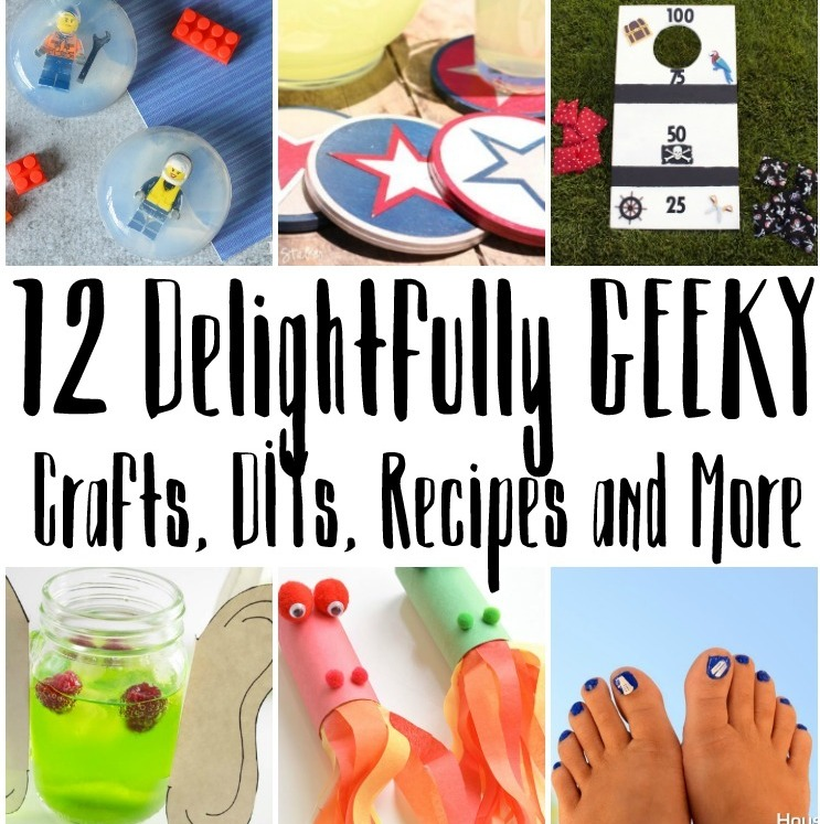 Love these Geeky crafts, DIYs, recipes and more. From Harry Potter to Pokemon Go and Doctor Who there's something for all nerds.