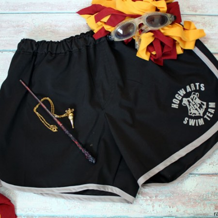How awesome are these Harry Potter inspired Hogwarts Swim Team Board Shorts DIY sewing pattern