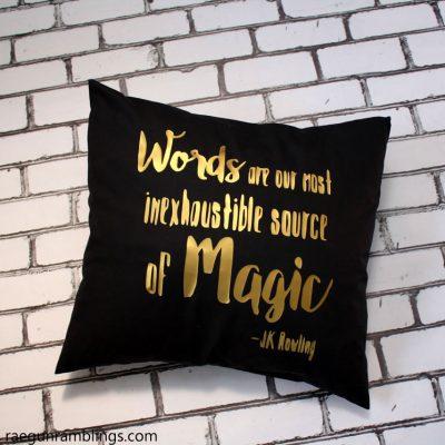 Dumbledore Quote Pillowcase Tutorial