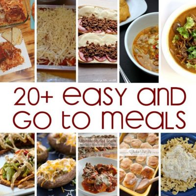 20+ Go To Meals + Recipes and Block Party