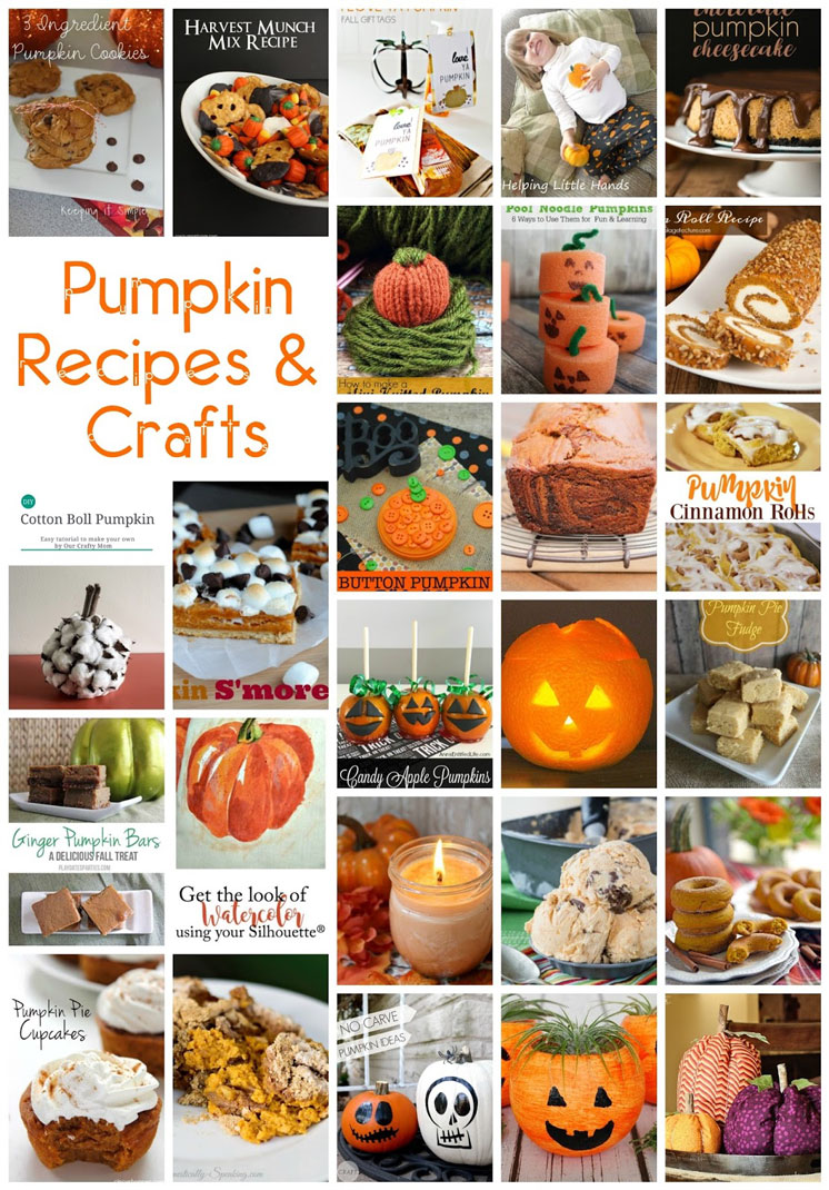 30 pumpkin recipes and crafts for thanksgiving and halloween
