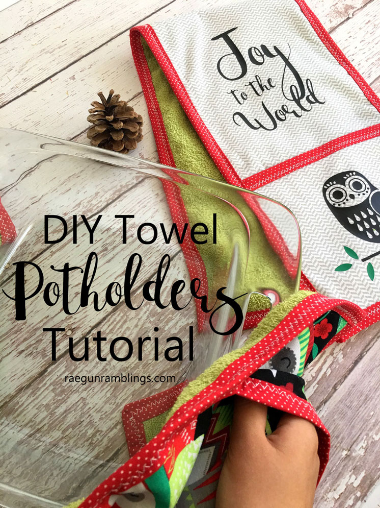 Darling double pot holder towel tutorial. Great free sewing pattern