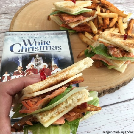 Throw a white Christmas inspired party and serve this yummy club sandwich recipe