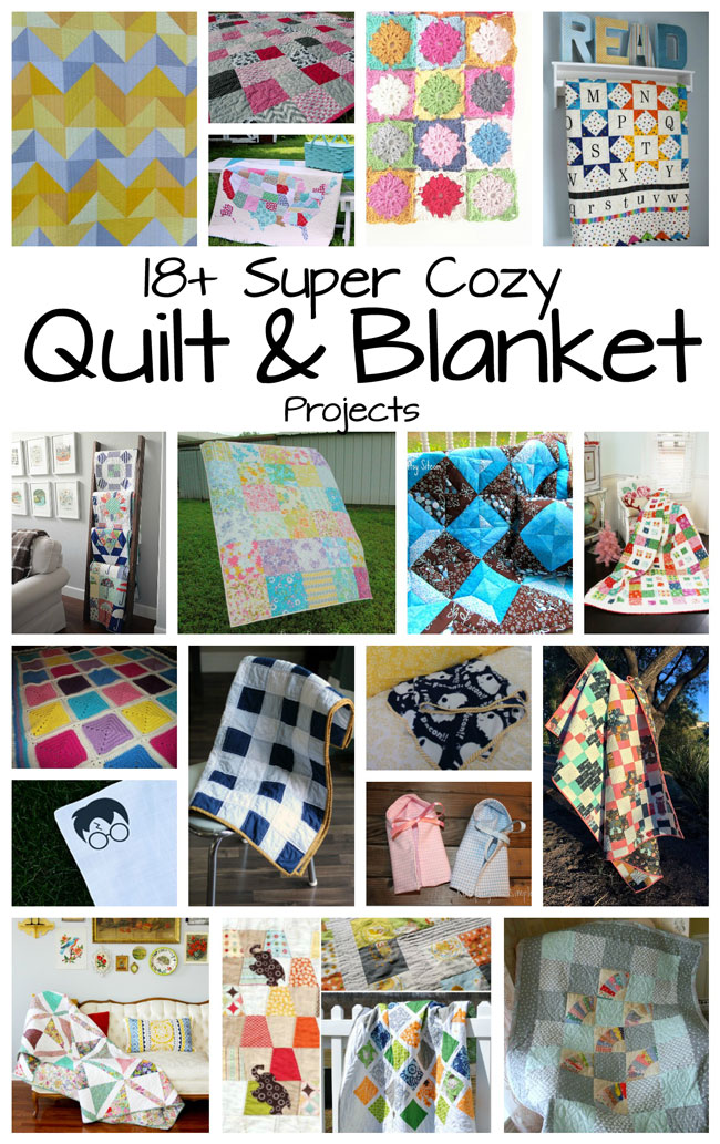 Super cozy DIY quilt and blanket tutorials and projects