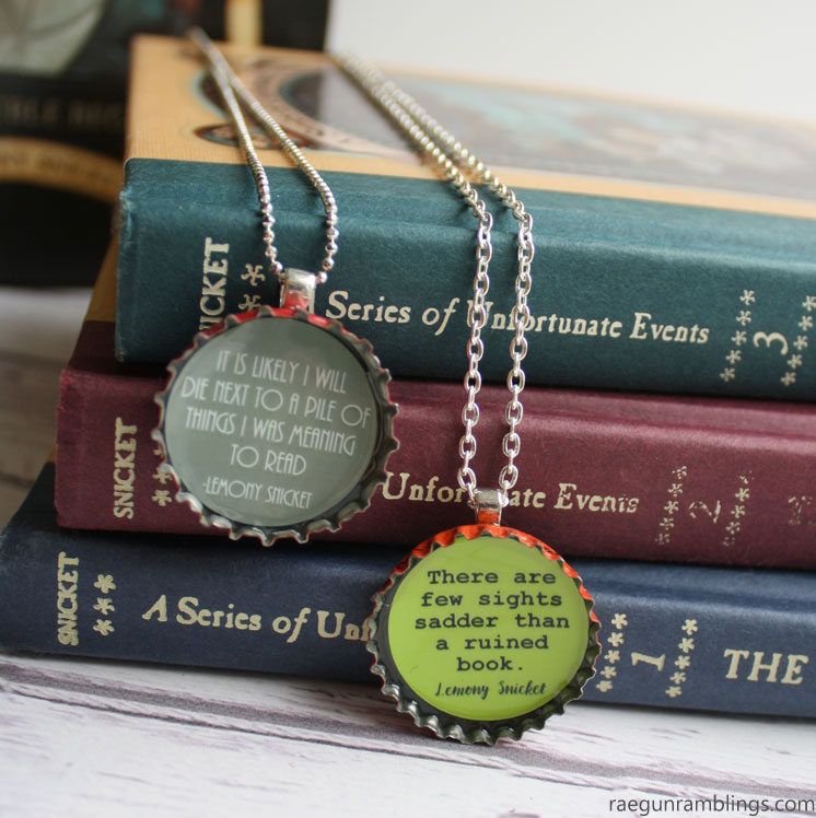 awesome lemony snicket necklace tutorials