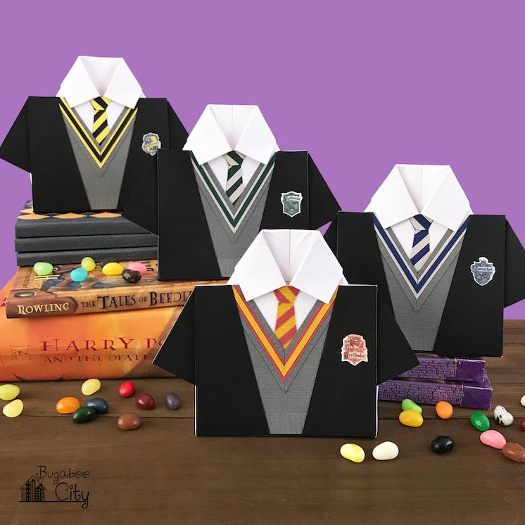 BugabooCity Harry Potter House Treat Boxes Free SVG Cut File