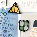 DIY Harry Potter Black Glue Magnets