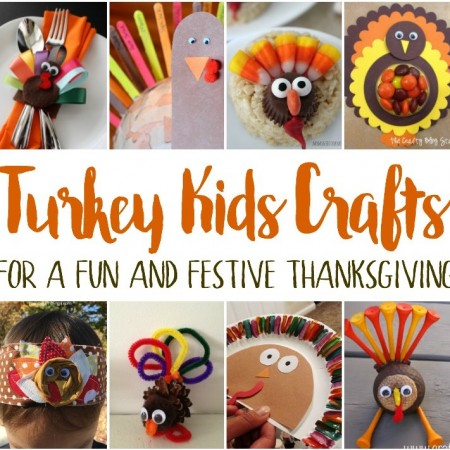 DIY turkey kids crafts perfect for thanksgiving