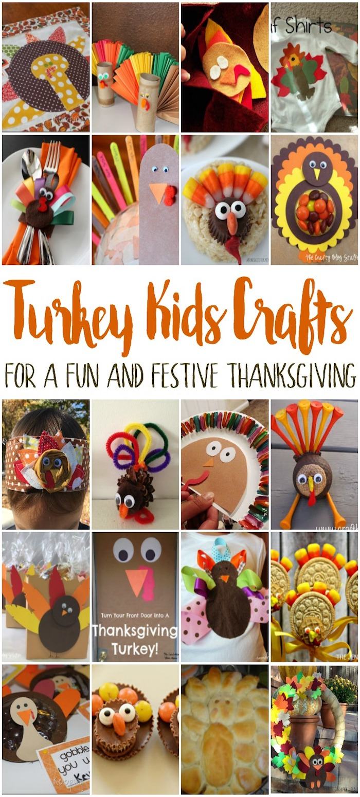 quick and easy turkey kids crafts perfect for thanksgiving