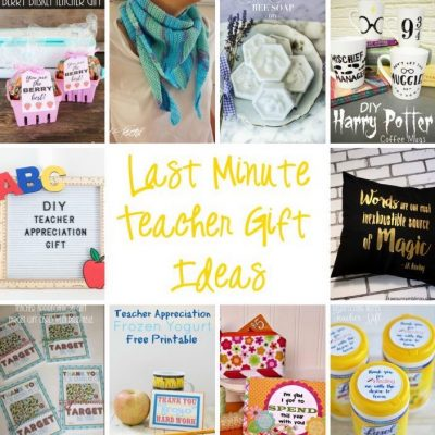 DIY Teacher Gifts and Block Party