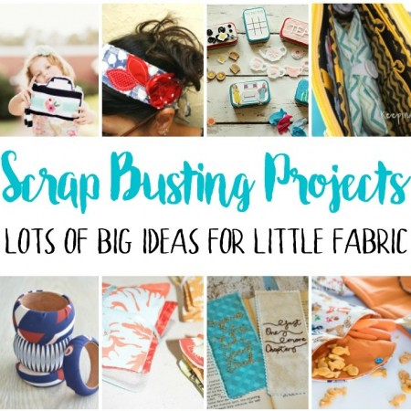 must make fabric scrap busting projects and sewing tutorials