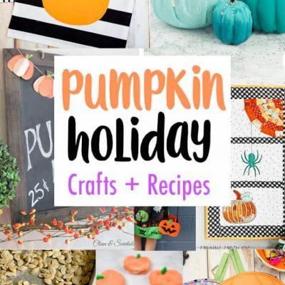 DIY Pumpkin Crafts Decor Recipes and Block Party