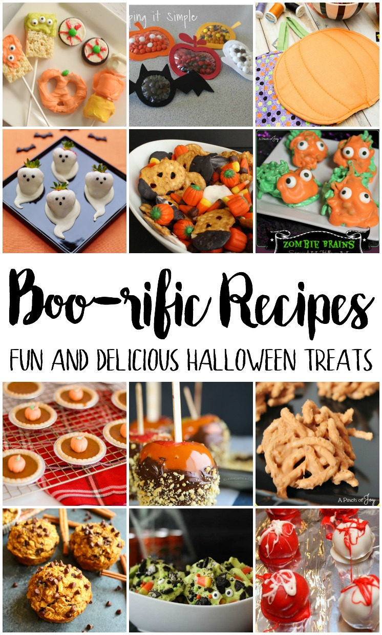 Boo-rific recipes. Fun and delicious halloween treats and party food