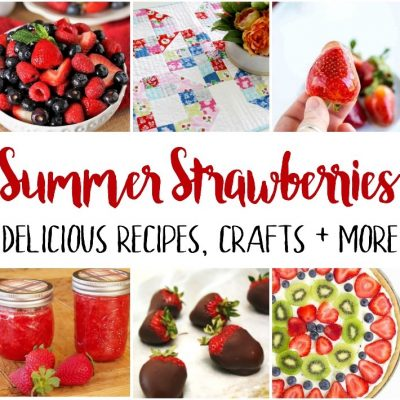 Summer Strawberry Recipes Crafts and Block Party