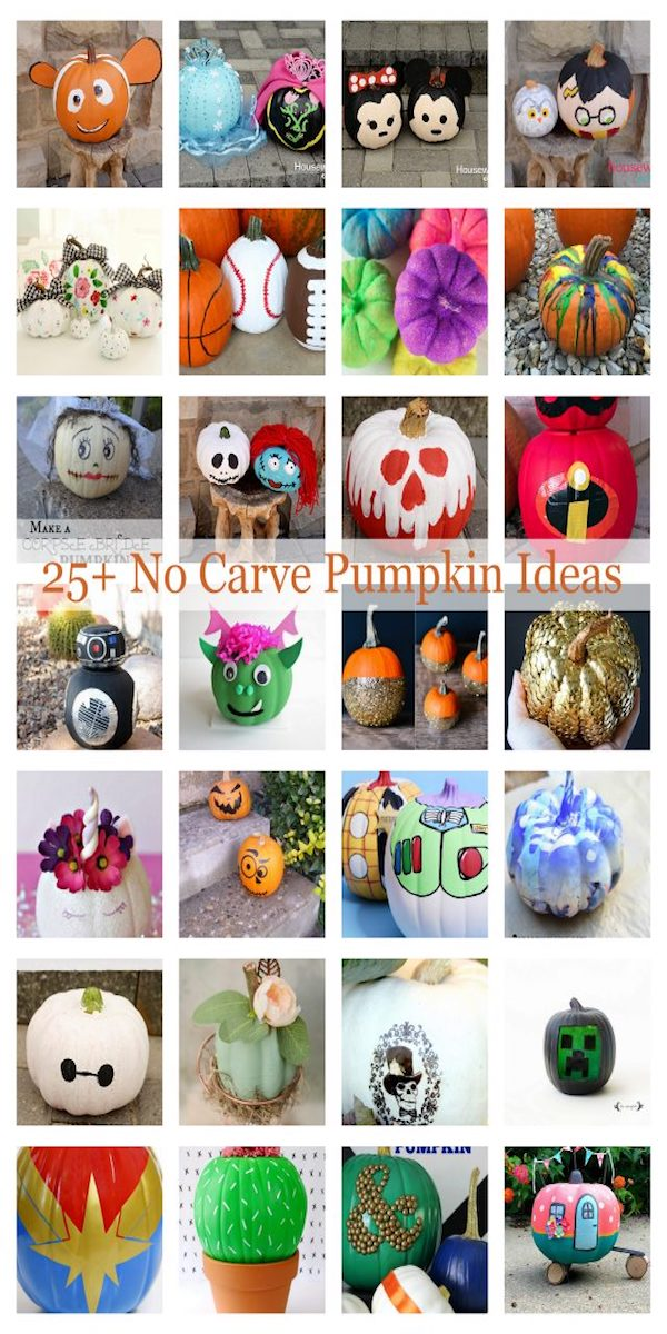 Lots of great ideas for painting pumpkins for Halloween
