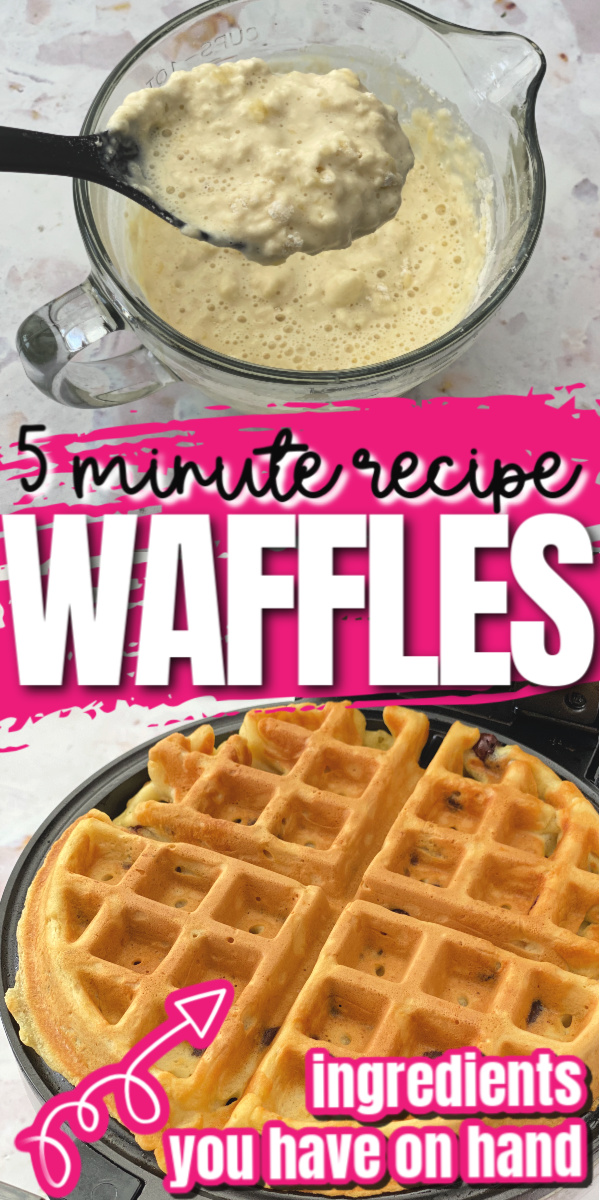 Hands down the best waffle recipe. Super easy and way better than those box mixes like Bisquick.