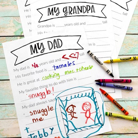 Father's day printables for dad and grandpa and uncle