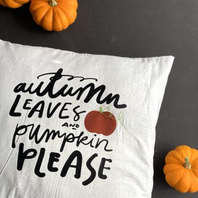 Fall Pillow Tutorial Autumn Leaves